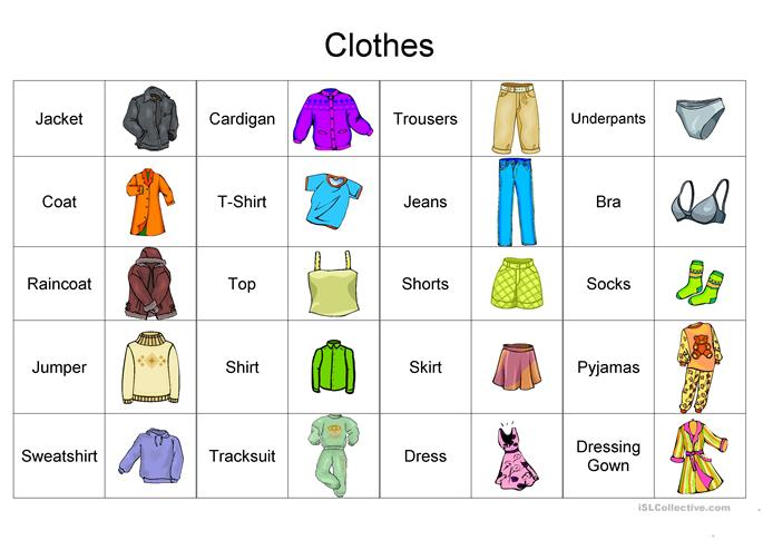 Clothes Vocabulary worksheet - Free ESL printable worksheets made by ...
