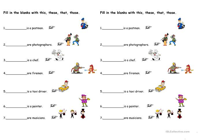 35 FREE ESL demonstrative pronouns worksheets – Demonstrative Adjectives Worksheets