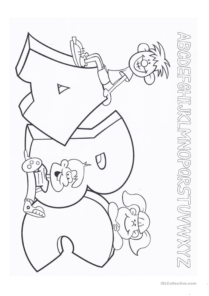 Easy Letter Tracing (w... - ESL worksheets