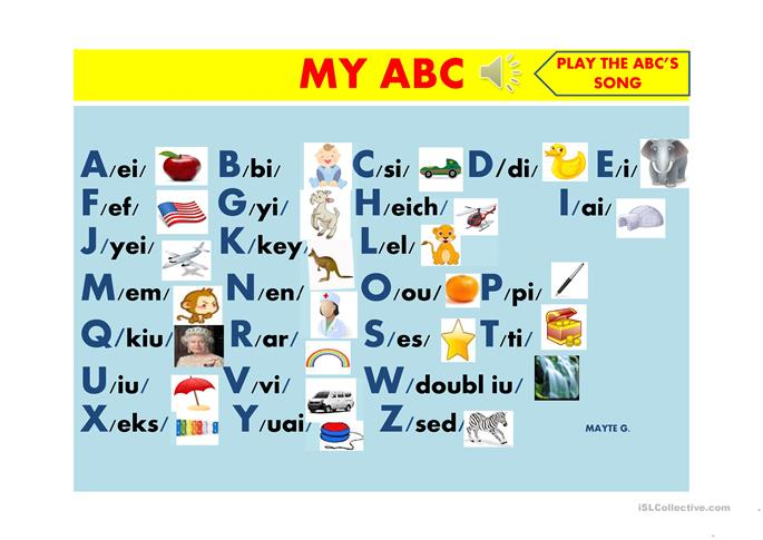 ENGLISH ALPHABET worksheet - Free ESL projectable worksheets made by ...