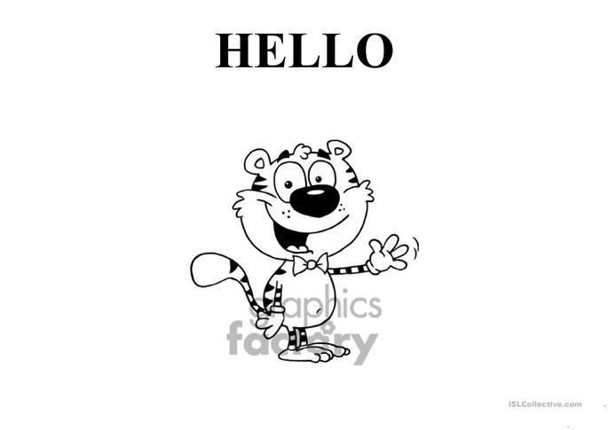flashcards for hello song  super simple songs 2  worksheet
