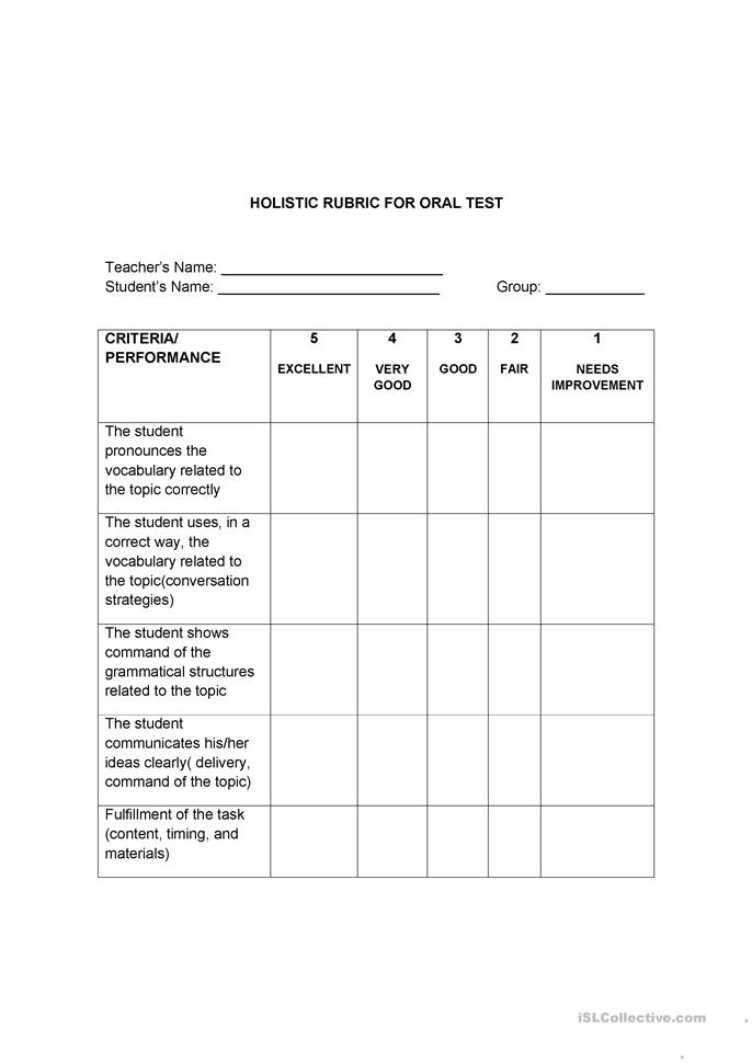 final exam rubric 1 1 Example 1: capstone project in design this rubric describes the components and standard of performance from the research phase to the final presentation for a senior capstone project in the school of design, cmu.