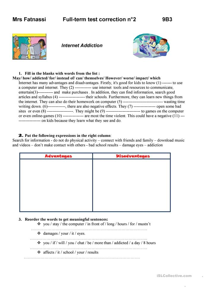 Printables Addiction Worksheets 22 free esl addiction worksheets internet addiction