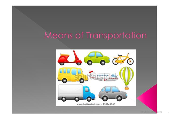 Means of Transportation - ESL powerpoints