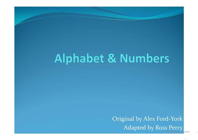 Numbers & Alphabet with Memory Games - ESL worksheets