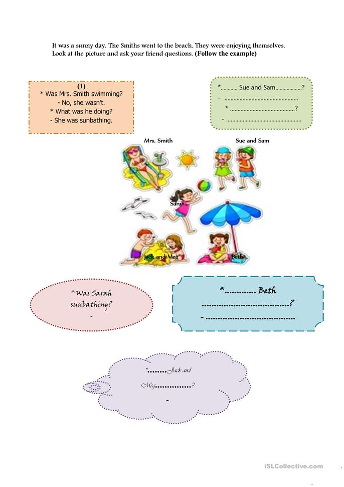 ON THE BEACH - ESL worksheets