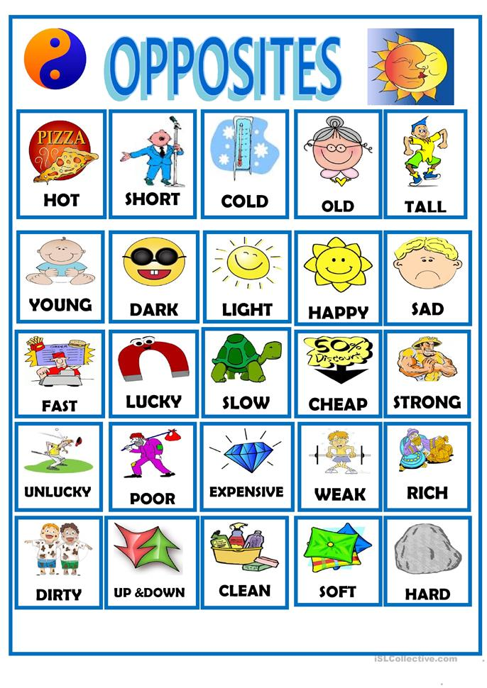OPPOSITES worksheet - Free ESL printable worksheets made by teachers