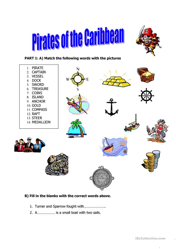 Pirates of the Caribbean - ESL worksheets