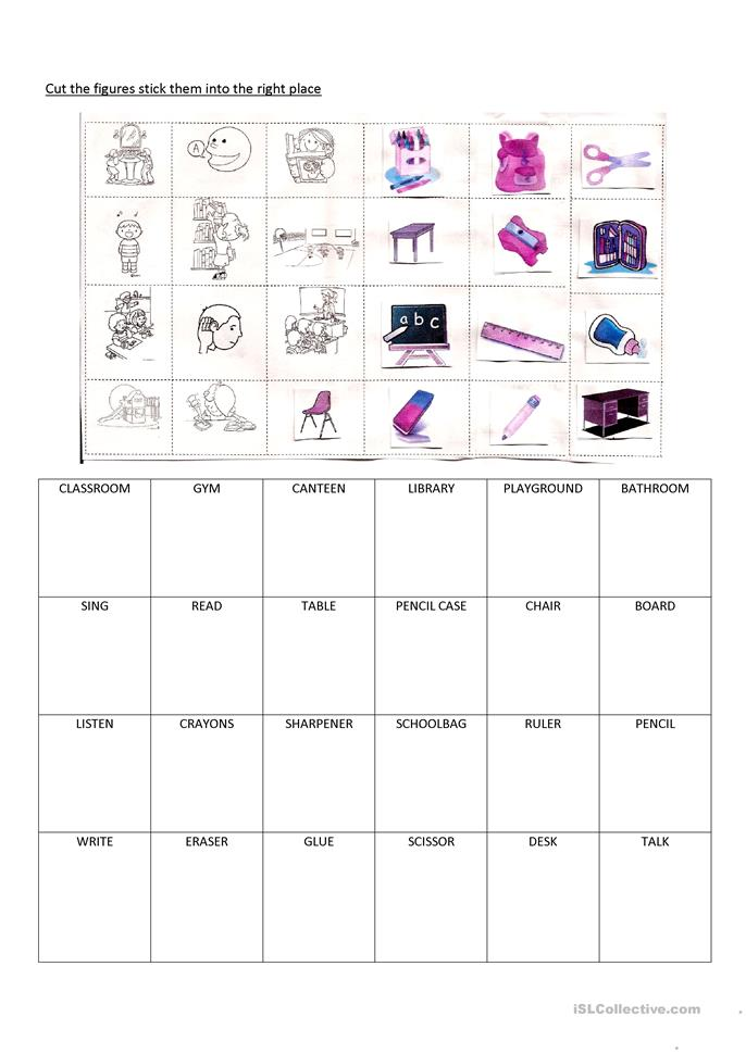 school items places and activities worksheet free esl printable worksheets made by teachers. Black Bedroom Furniture Sets. Home Design Ideas