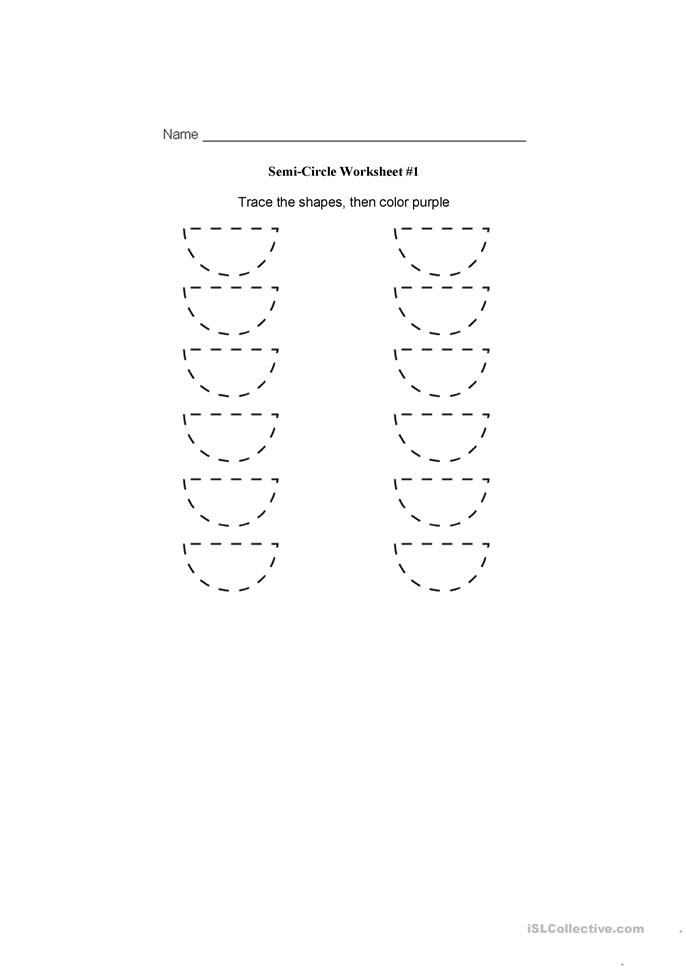 semi-circle worksheet worksheet - Free ESL printable worksheets made ...
