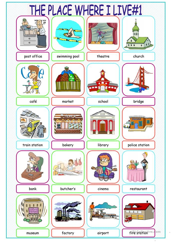 The Place Where I Live Picture Dictionary#1 worksheet ...