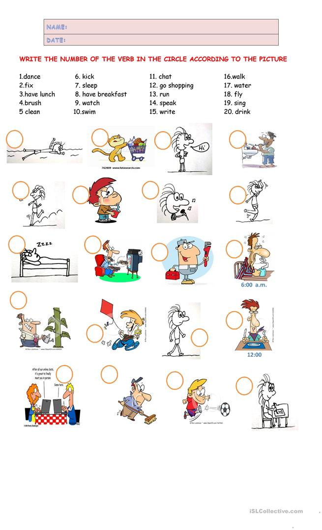ACTION VERBS - English ESL Worksheets For Distance Learning And Physical  Classrooms