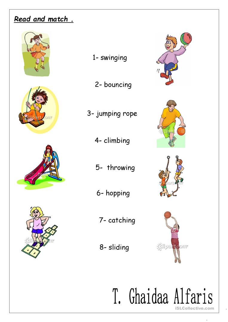 action words with pictures pdf