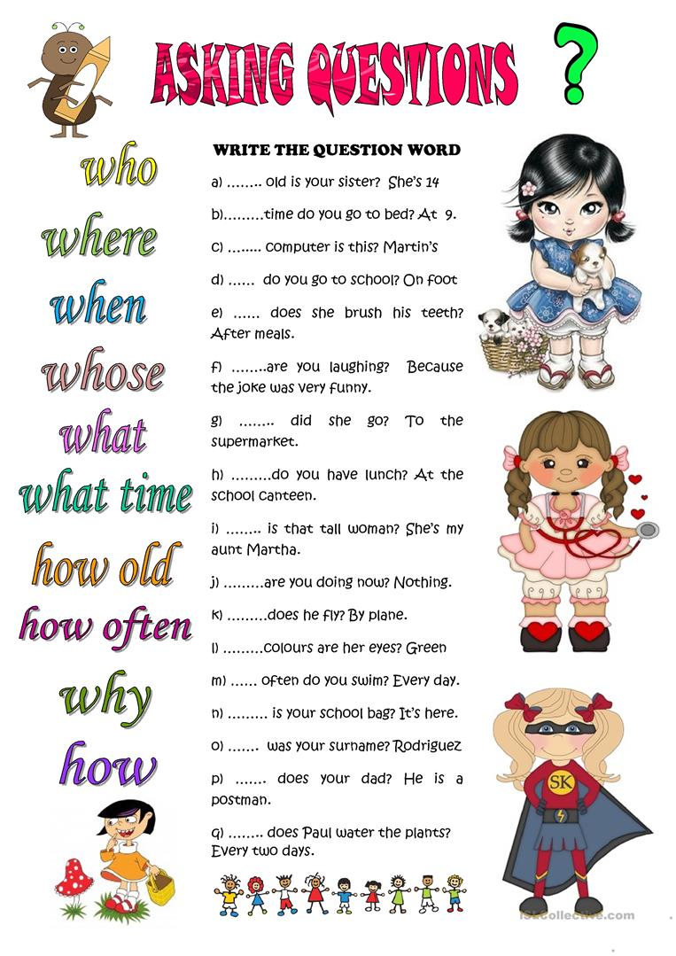 ASKING QUESTIONS worksheet - Free ESL printable worksheets made by ...