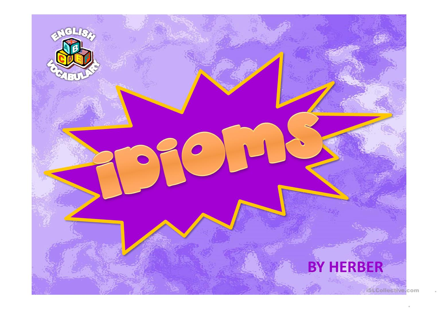 English ESL idioms Powerpoint presentations - Most