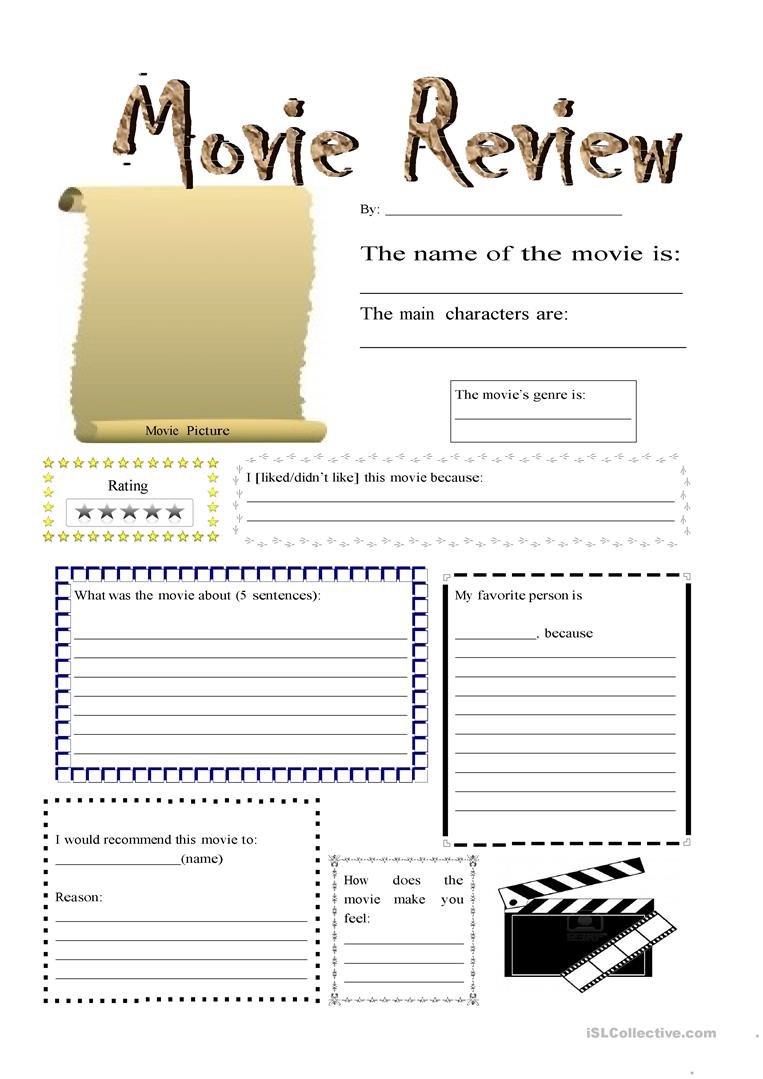 English Esl Movie Review Worksheets Most Downloaded 20 Results