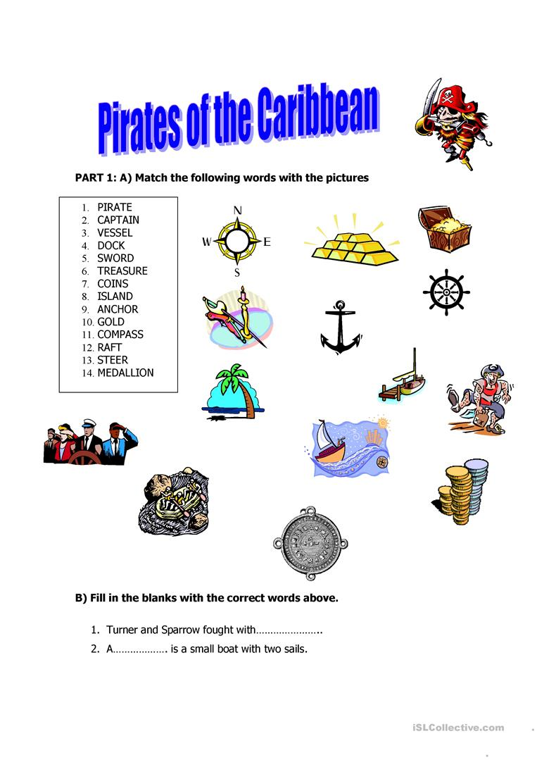 Pirates of the Caribbean - English ESL Worksheets
