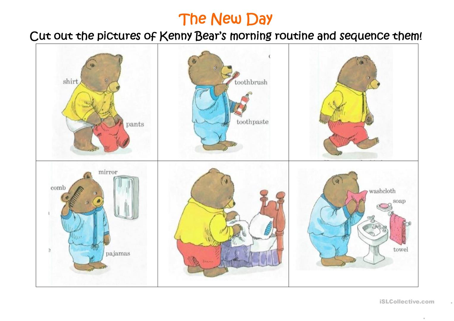 Worksheets Picture Sequencing Worksheets 14 free esl sequencing worksheets the new day