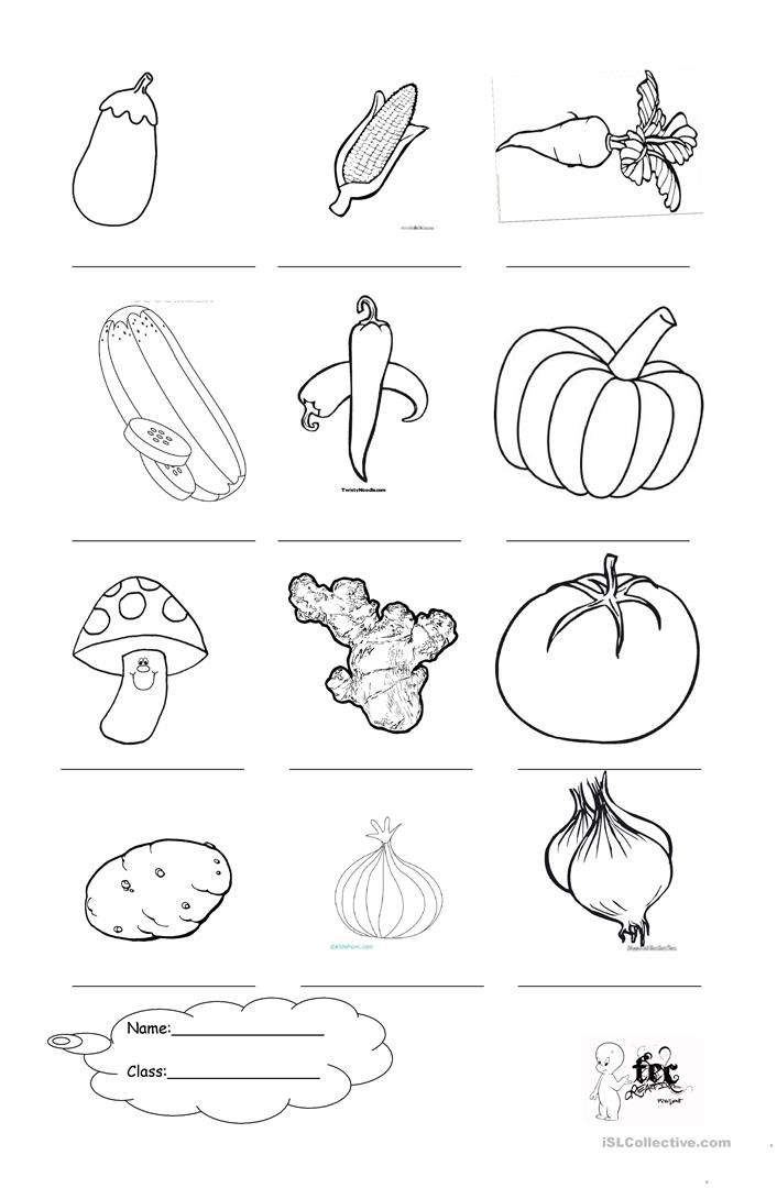 Vegetables + Coloring - English ESL Worksheets For Distance Learning And  Physical Classrooms
