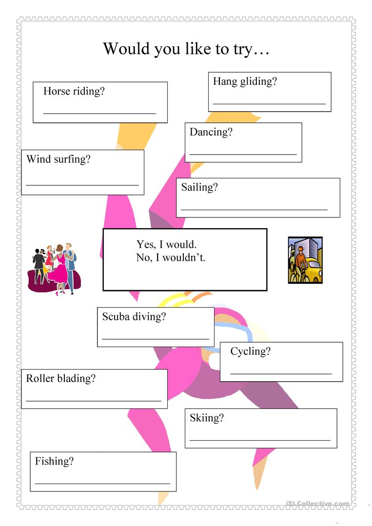 would you like to try worksheet - Free ESL printable ...