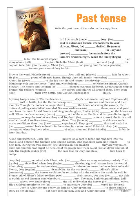 Free Printable Worksheet War Horse - Clipart Library •