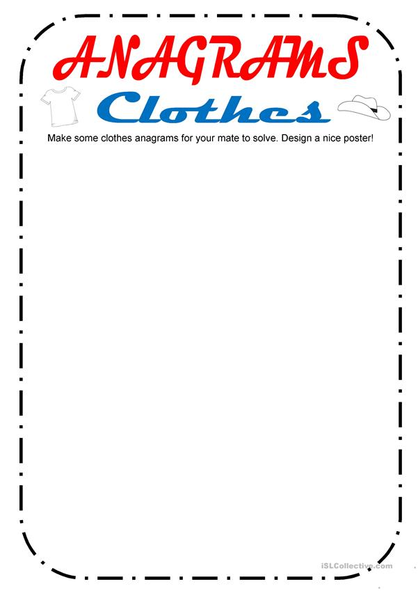 Anagrams Clothes (2 pgs)