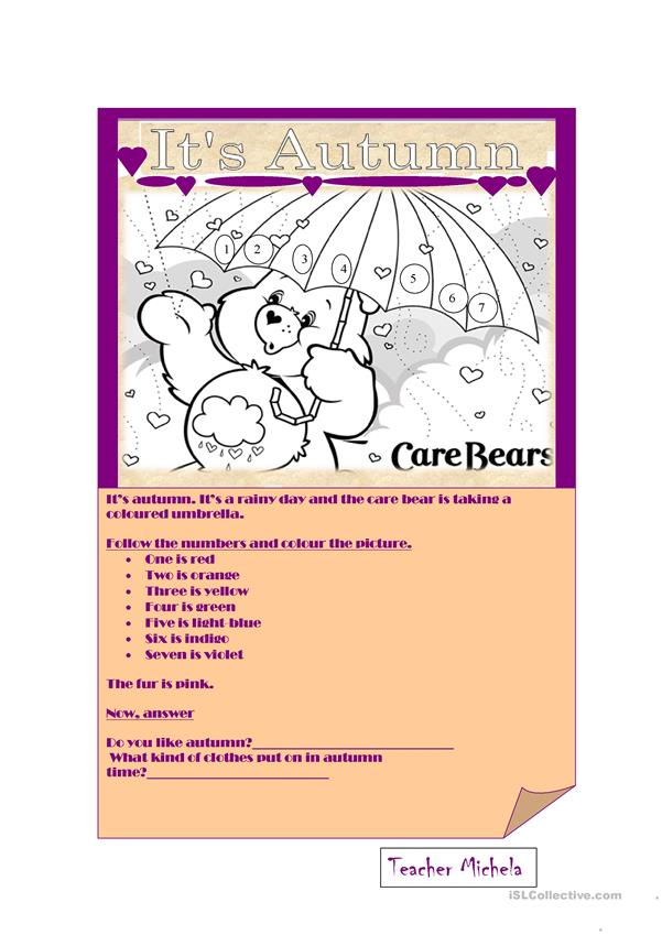 Autumn care bear