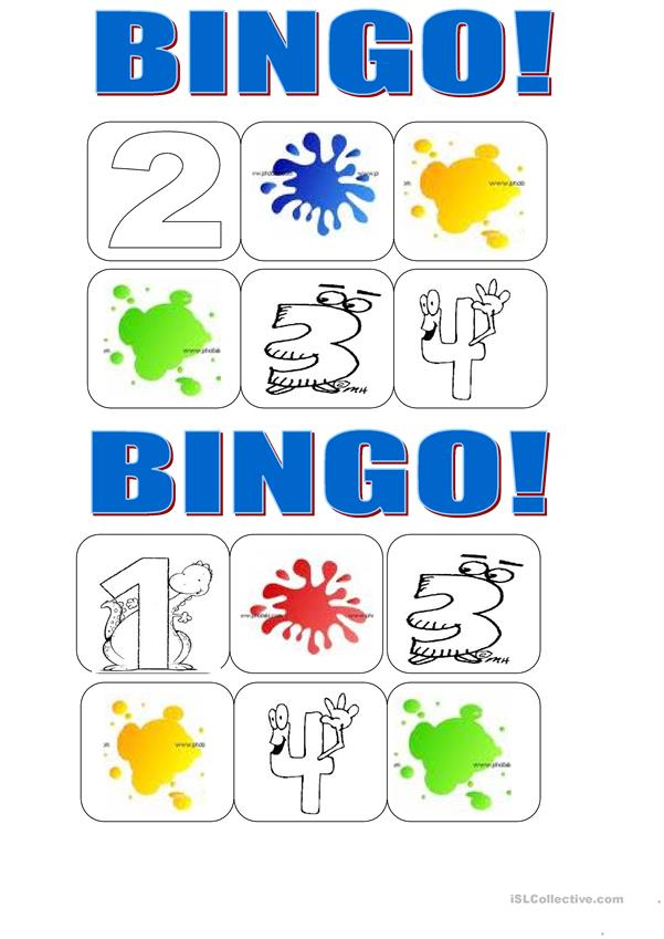 bingo colours and numbers