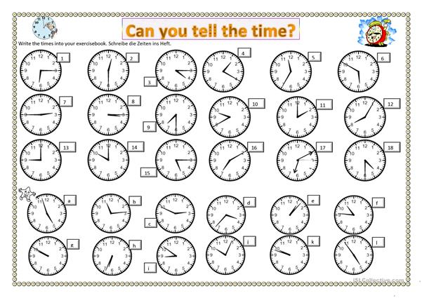 Can you tell the time?