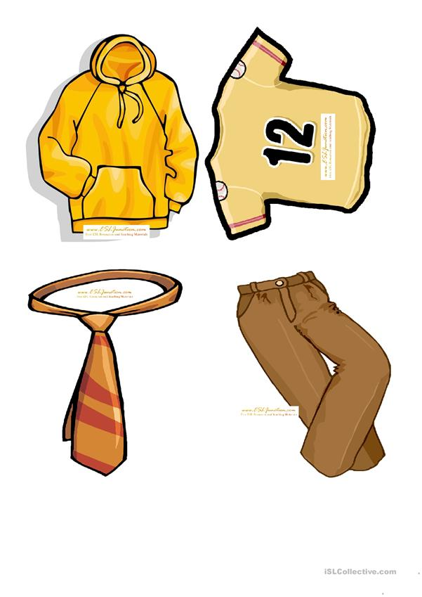 Clothes flashcards
