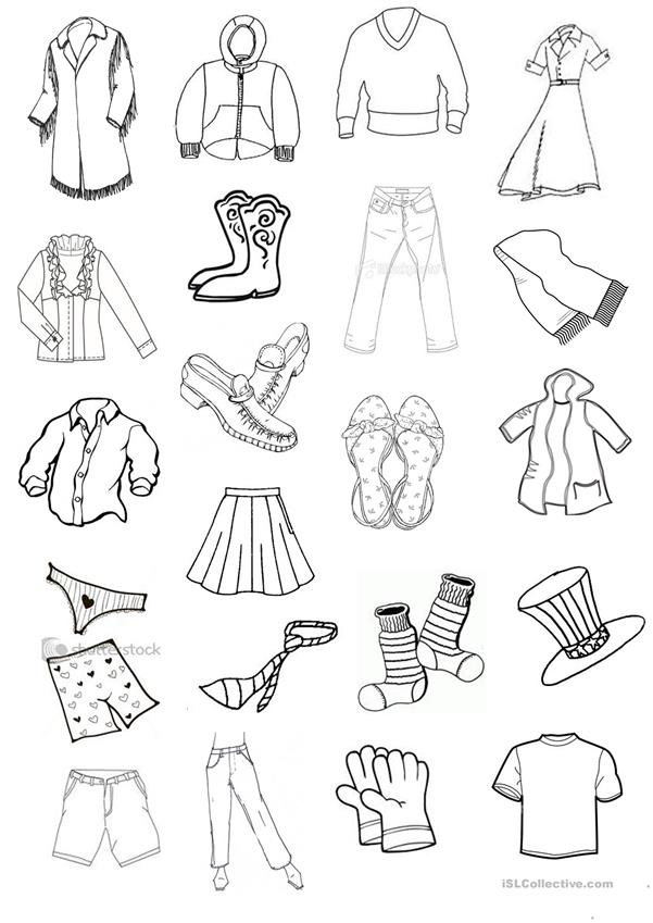 clothes mini flashcards