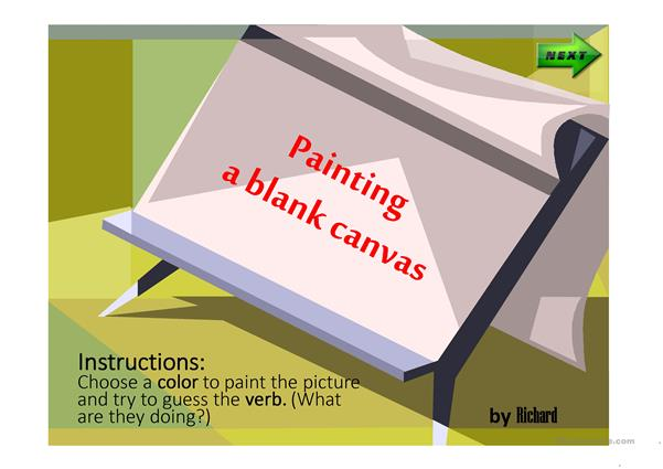 colors and verbs ppt guessing game