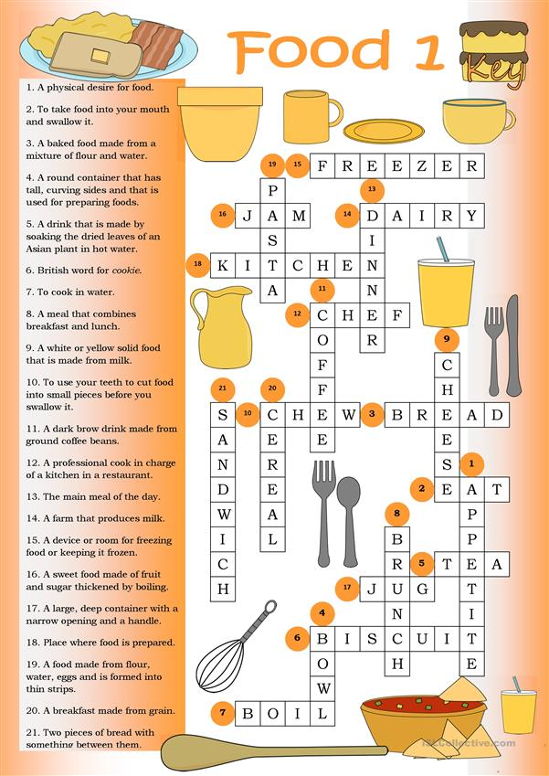 Crossword Food 1 Key