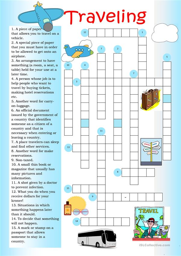 Crossword: Traveling
