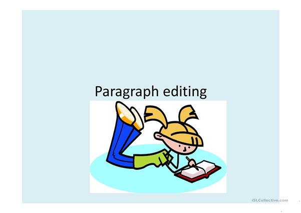 Editing paragraphs