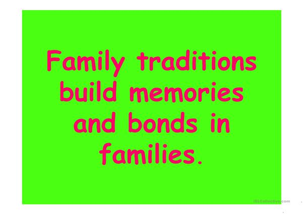 FAMILY TRADITIONS PPT