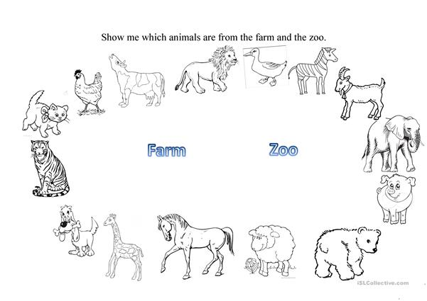 Farm and Zoo animals