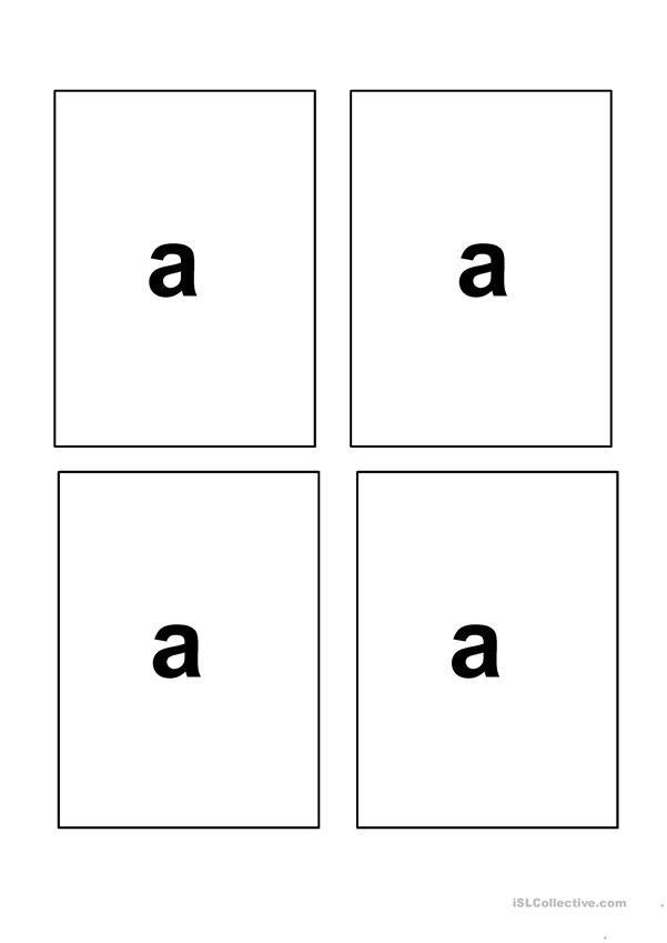 Flash cards for I like a/an