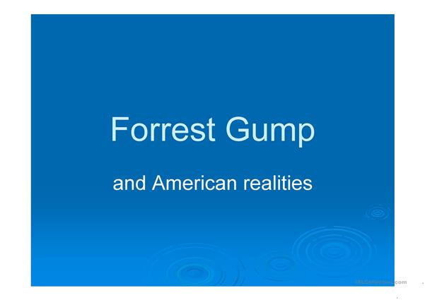 Forrest Gump and American realities