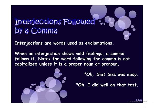Interjections Powerpoint