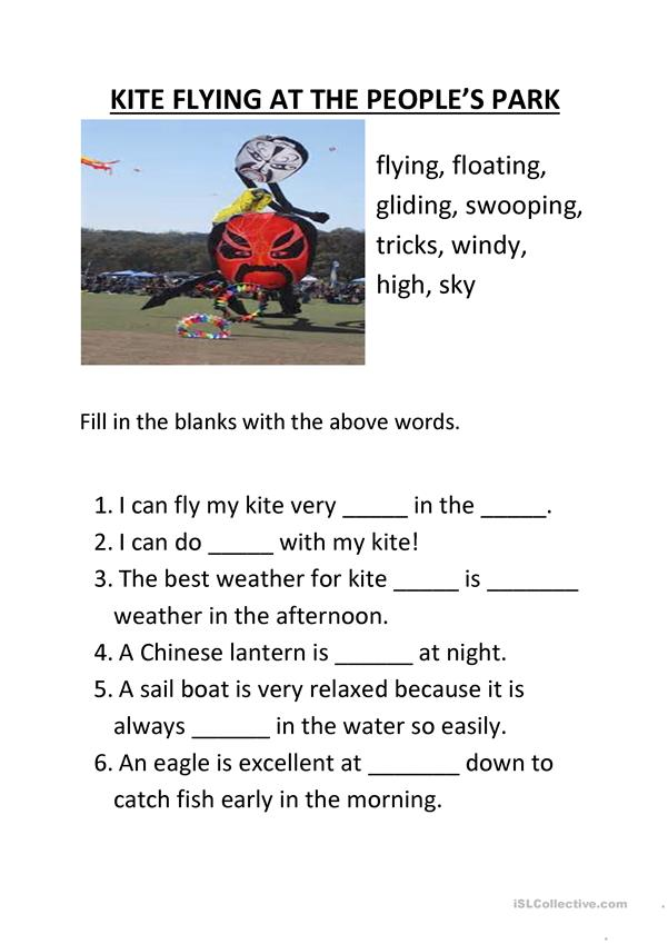Kite Flying Verbs