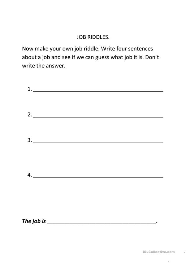 Make your own Job Riddle
