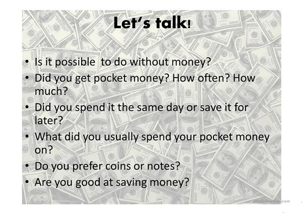 money idioms/speaking
