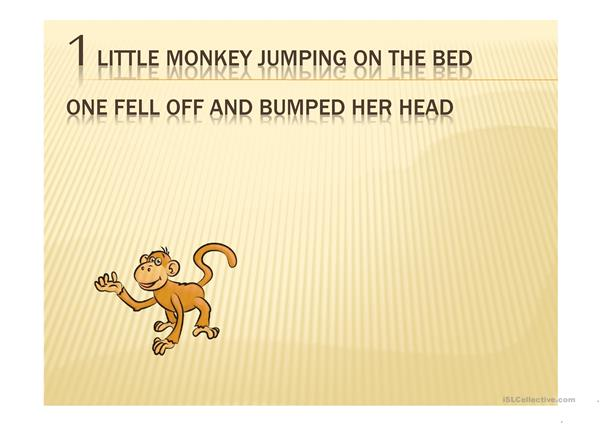 No More Monkeys Jumping on the Bed PPT
