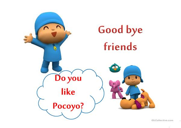 Pocoyo and Present continuous