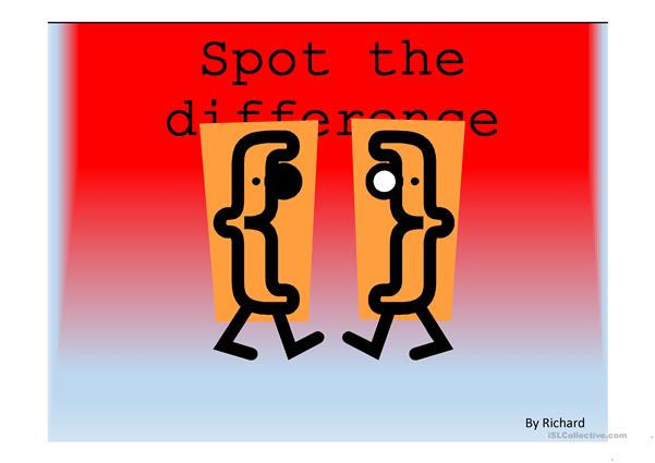 Spot the difference (rooms at home) ppt game