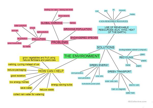 THE ENVIRONMENT mind map