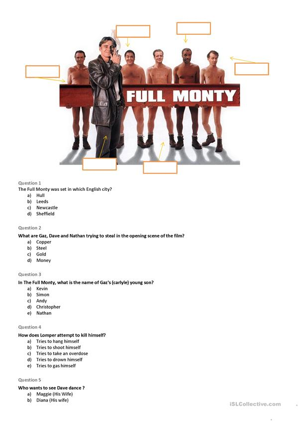 The Full Monty - quiz