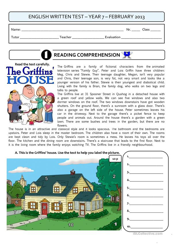 THE GRIFFINS' HOUSE - a 4page test