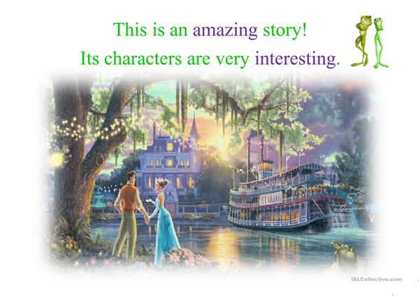The Princess and the Frog: Adjectives